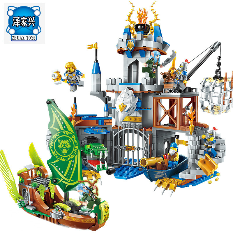 Enlighten Building Block War of Glory Castle Knights The Sliver Hawk Castle 6 Figures 656pcs Educational Bricks Lepins Toy Gift enlighten new 2315 656pcs war of glory castle knights the sliver hawk castle 6 figures building block brick toys for children