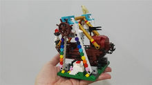 520pcs XingBao Genuine Colorful World Series The Pirate Ship Set Building Blocks Bricks Educational Toys Model As Boy Gift(China)