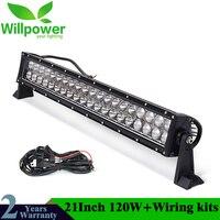 IP67 Waterproof 24 Volt 22 120w Offroad Car Truck Tractor LED Light Bar Work Light 12 Volt LED Auto Car LED Lights LED Bulb 4x4