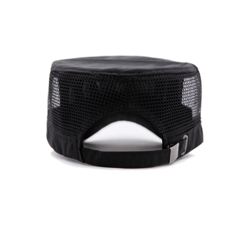 2017 Stylish Zinc Alloy 95 Logo Unisex Flat Roof Hat for Men Cadet Patrol Bush Mesh Baseball Field Caps Climbing Accessories
