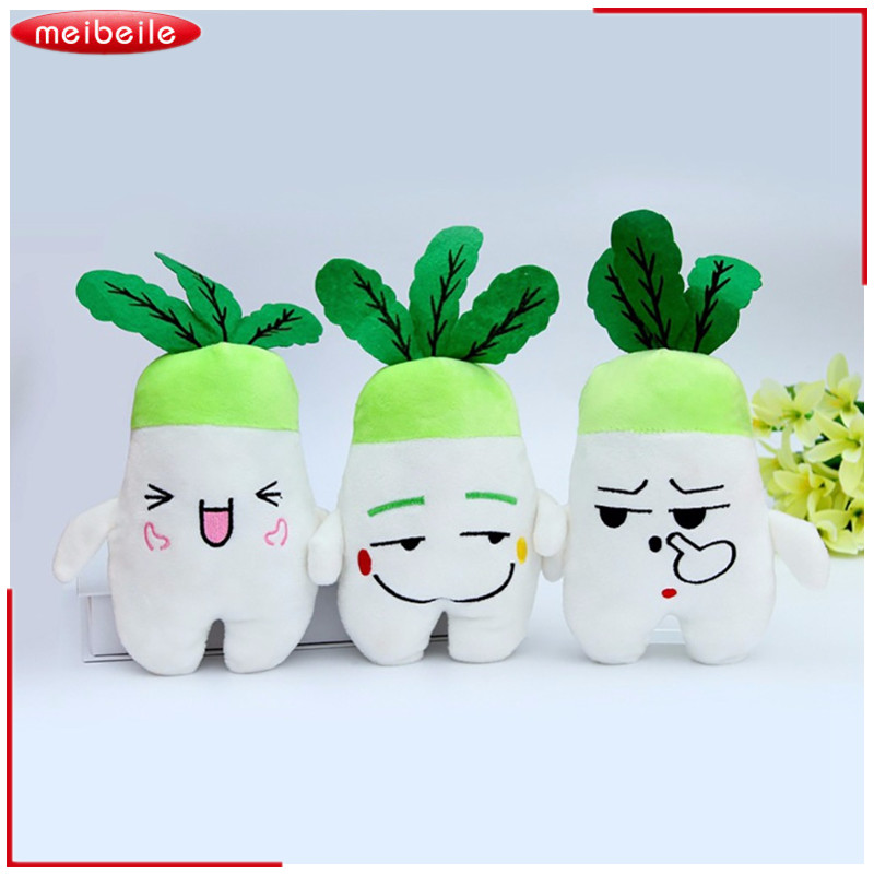 Emoj Plush Radish Dolls Plush Toy Turnip Doll With Random Face Express 2pcs/LOT ...
