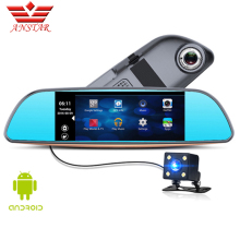 ANSTAR CAR DVR Car Camera Dash Cam Video Rear View Mirror Android GPS Navigation Dual Lens Camera Parking Assistance For Cars