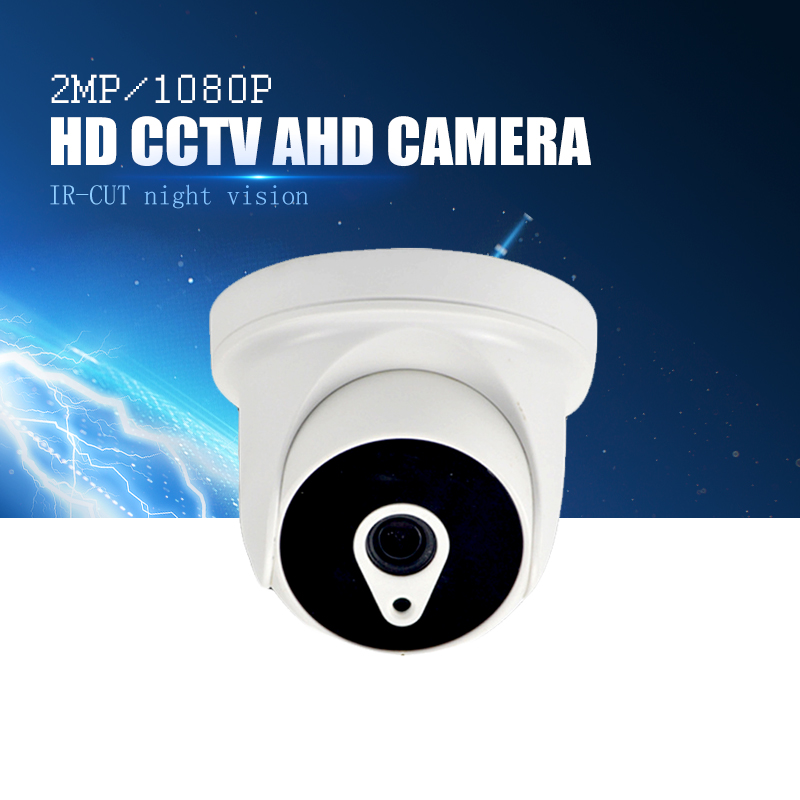 YiiSPO AHD 1080P IR Mini Dome Camera 2.0MP AHD Camera indoor IR CUT Night Vision 3.6mm XM320+SC2235 indoor CCTV security camera