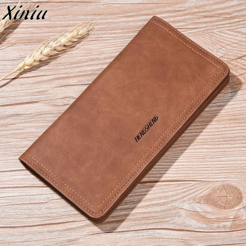 US SHIP Trendy Men Business Leather Wallet Pocket Card Clutch Bifold Slim Purse