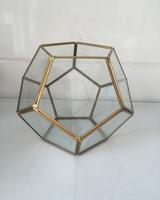 Handmade Bonsai Football Metal Glass Geometric Terrarium Succulent Fern Moss Tabletop Planter Terrarium Box Micro Landscape