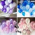 Baratos 100 pcs 10 ''1.2g Forma Redonda Balões De Látex de Pérola Partido Decorar Feliz Dia Dos Namorados Aniversário de Casamento decoração Ballon