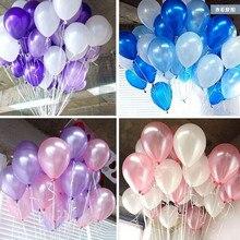 100 шт./лот 10 inch1.2g воздушный шар латекса гелия круглые шары 16 цвета толщиной перл воздушные шары свадьба ну вечеринку на день рождения шары