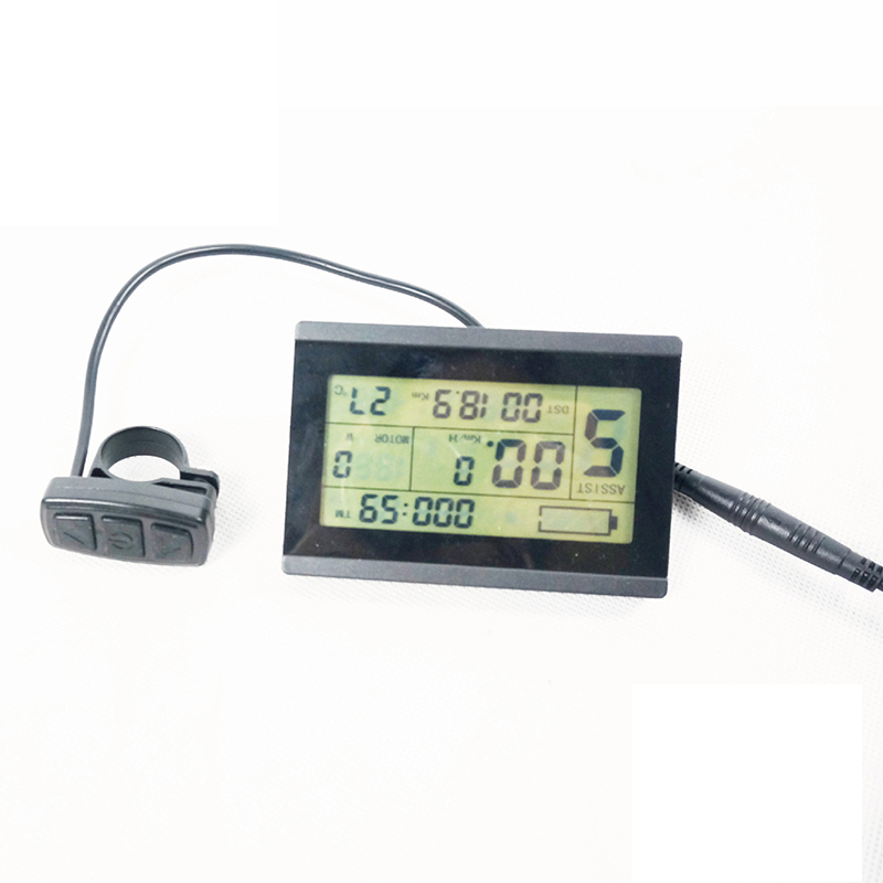 Clearance Display Monitor For Electric bike Scooter 24V 36V 48V Intelligent Control panel Black Replacement KT LCD3 LCD Module 0