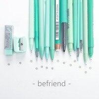 FARE AMICIZIA CON set di Cancelleria Menta verde 2018 Nuovo kawaii set di cancelleria regalo per le ragazze con cassa di matita sveglio della penna del regalo set papelaria