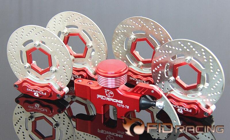 Jeu de freins hydrauliques à 4 roues pour ROVAN ROFUN KM HPI Baja 5B 5T 5SC