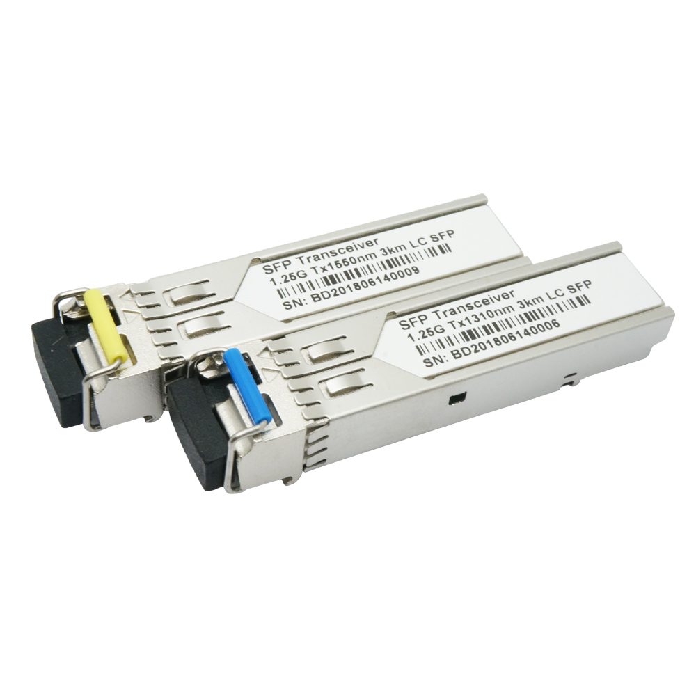 120KM 1.25G WDM SFP Fiber Module 1490nm/1550nm SC/LC Compatible SFP Fiber Optic Transceiver