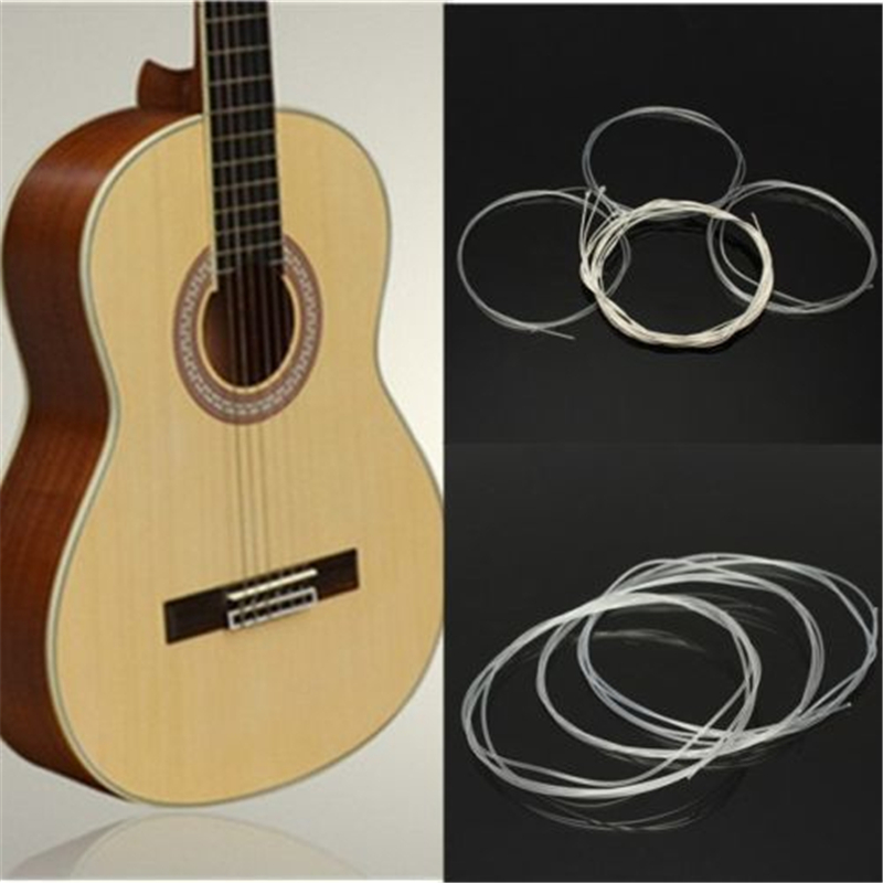6pcs/set Nylon Classical Guitar Strings Nylon Silver Plating Set Super Light For Classic Acoustic Guitar Parts Accessories classical guitar strings set cgn10 classic nylon silver plated normal tension 028 045 classical guitar strings 6strings set