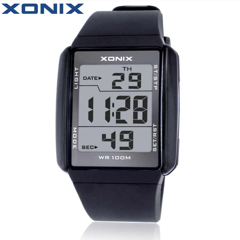Hot!!!XONIX Fashion Lovers' Sports Watches Waterproof 100M Men and Women Digital Watch Swimming Diving Hand Clock Montre Homme ezon radio wave calibrate time digital men sports watch outdoor casual running swimming waterproof 50m wristwatch montre homme
