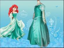 купить New 2015 Custom Made Fantasia Halloween Wedding Party Little Princess Ariel Dress Women Adult Ariel Mermaid Costume онлайн