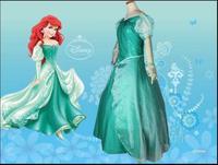 New Sale Custom Made Fantasia Halloween Wedding Party Little Princess Ariel Dress Women Adult Ariel Mermaid Costume