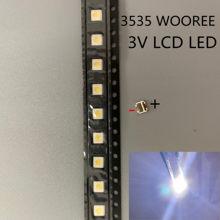 1000 pces para wooree led backlight lcd tv grânulo 3 v 1 w 3535 led smd lâmpada grânulo 3535 branco frio WM35E1F-YR07-eB