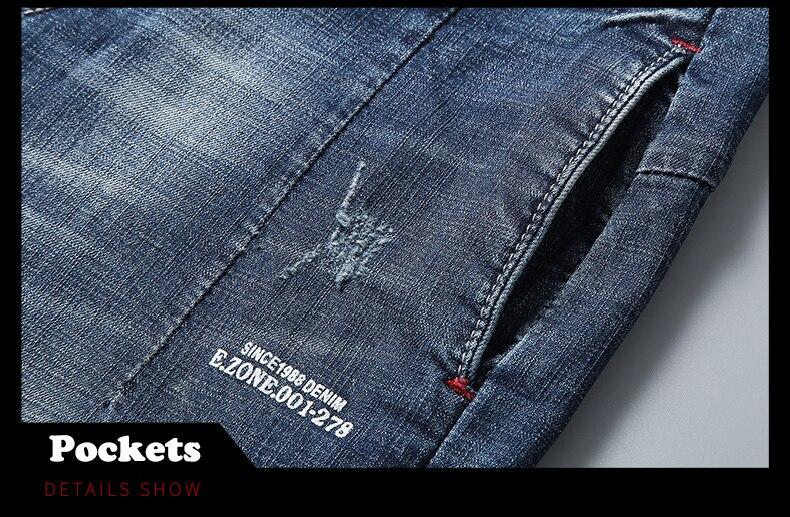 KSTUN 2020 New Arrivals Jeans Shorts for Men Regular Fit Stretch Blue Casual Pants Famous Brand Men's Clothes Male Cowboys Shorts 15