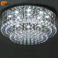 Новый дизайн хрустальные светильники потолочные блеск plafon светодиодный verlichting современной гостиной лампа