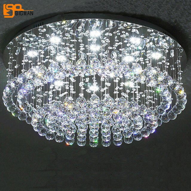 new design crystal ceiling lights lustre plafon LED verlichting ...