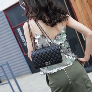 Image 4 - crossbody bags for women channels shoulder bag woman bags 2019 bag handbag fashion handbags women Diamond Lattice