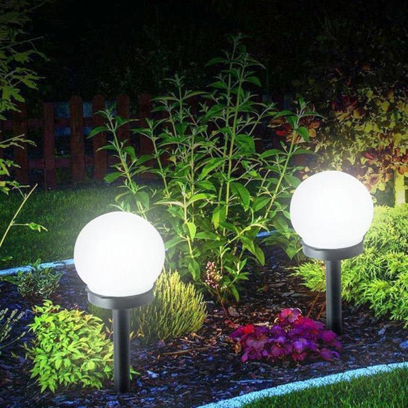 Led Solar Energy Didukung Bohlam Lampu 33 Cm Tahan Air Kolam Taman Jalan Panel Tenaga Surya Solar Panel Lampu Bola Rumput Halaman Hias Landscape Lampu Surya Aliexpress