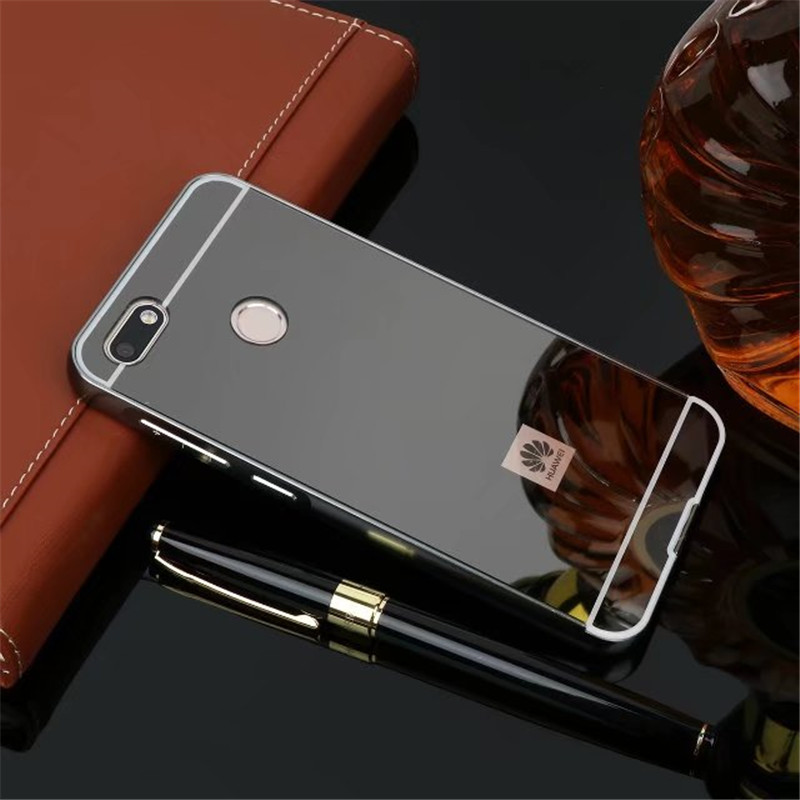 For Huawei P9 Lite Mini 5.0 HOT Luxury Rose Gold plating Mirror Cell Phone Back Skin Cover Case for Huawei P9 Lite Mini