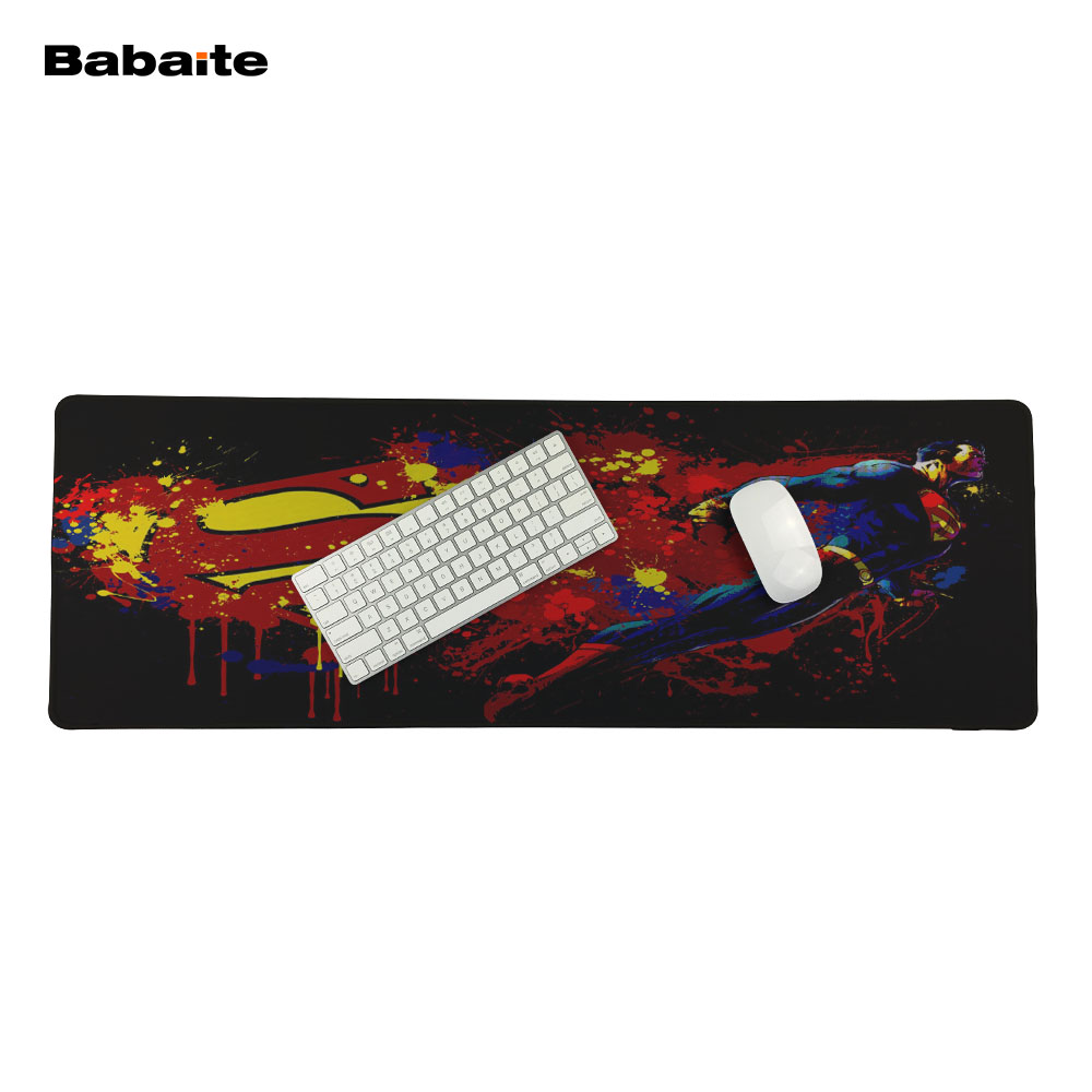 babaite jlx0387 make your own mouse pad superman logo black background keyboard mousemat cloth pad thickening precision sewingin mouse pads from computer