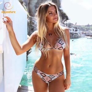 Image 3 - 2020 סקסי תחבושת ביקיני נשים לדחוף את בגדי ים נמוך מותניים בגד ים ברזילאי ביקיני סט רחצה חליפות וחוף שחייה חליפת XL