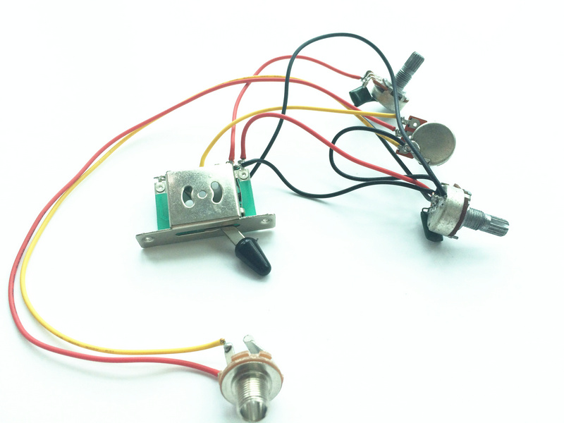 Professional Prewired potentiometer Wiring Harness with A 500K B 500K for Electric Guitar for pickup aliexpress com buy professional prewired potentiometer wiring prewired guitar harness at readyjetset.co