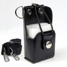 XQF Duro Artificiale Custodia In Pelle Custodia Per Armi + Clip da Cintura per Motorola Two Way Radio Walkie Talkie GP328 + Più GP388 GP344 GP638 +