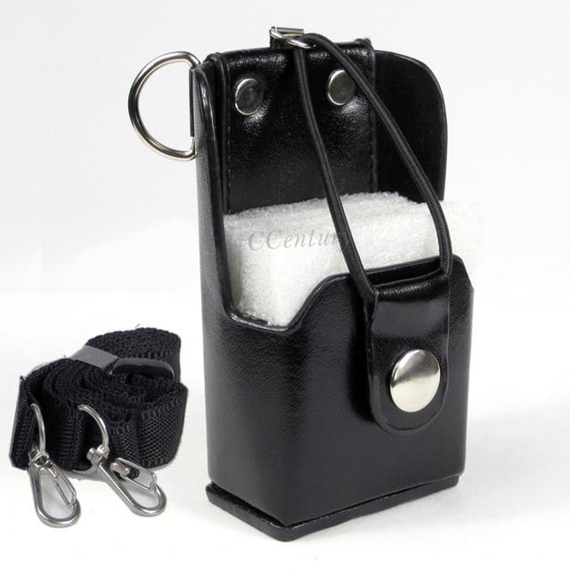 XQF Hard Artificial Leather Case Holster+Belt Clip for Motorola Two Way Radio Walkie Talkie GP328+Plus GP388 GP344 GP638+