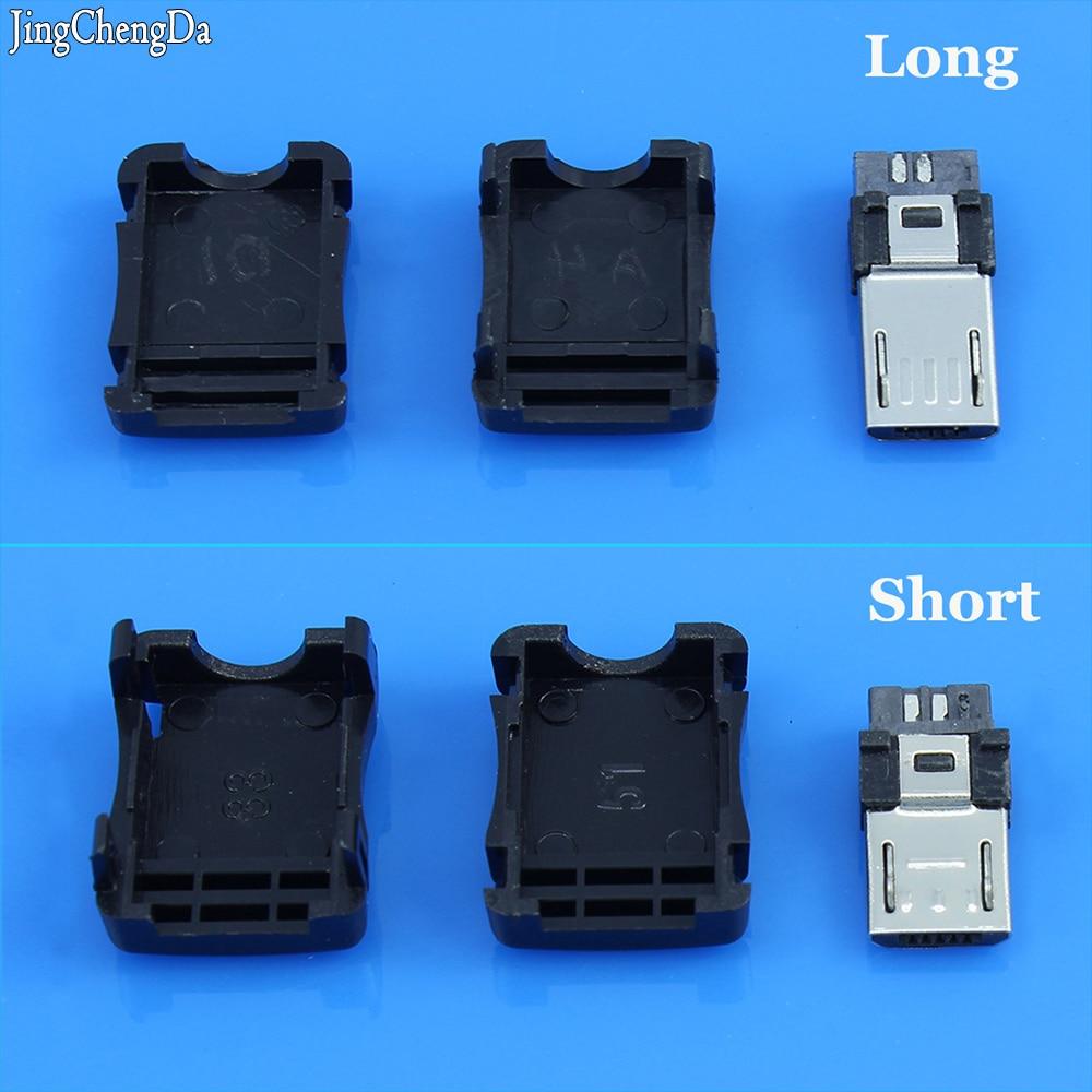 Jing Cheng Da 100 Set Micro USB 5 Pin T Port Male Plug Socket Connector&Plastic Cover for DIY другие yu mei jing 80g