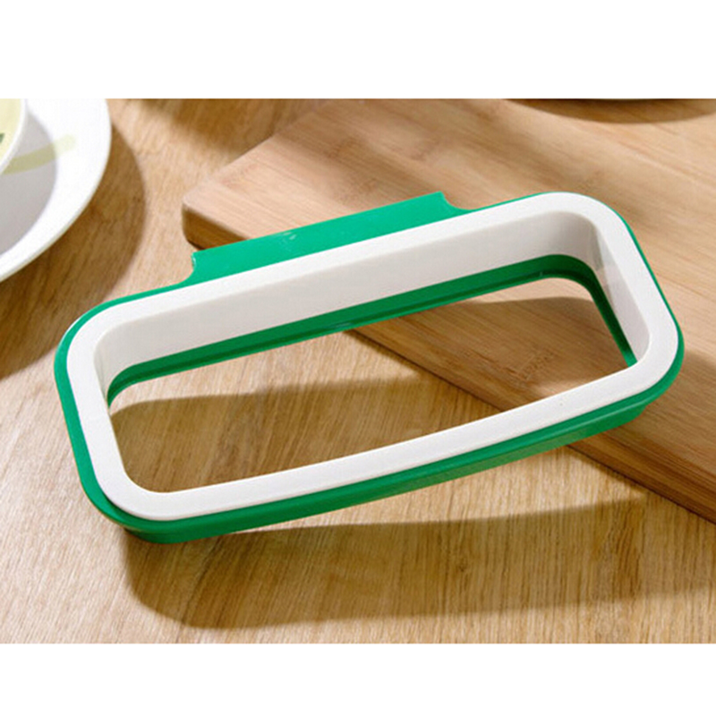 Aliexpress Com New Arrival Green Color Trash Garbage Bag Rack Attach Holder Over Cabinet Cupboard Door Kitchen Bathroom From Reliable