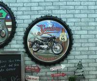 Large 3D effect tin sign Route 66 Vintage Metal Painting Beer cap Bar Wallpaper Decor Retro Mural Poster Craft 50x50 CM