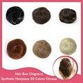10Pcs/Lot Wholesale Chignon Hair Bun Natural Straight Scrunchies Draw String Donut Bun Synthetic Hairpiece Hair Bundles  Q3