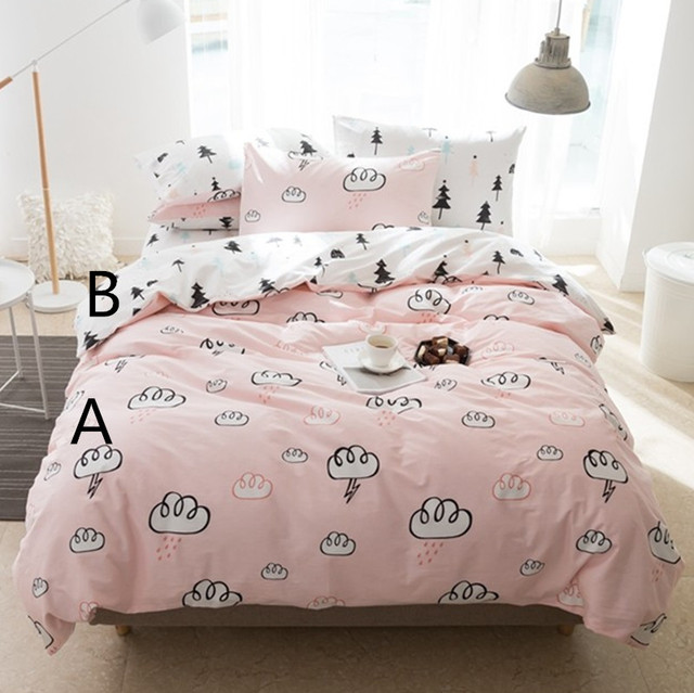 235cm 50cm Pink Cloud Pine Baby Cotton Fabric Infant Sewing Cloth Kids Nursery Bedding Linens