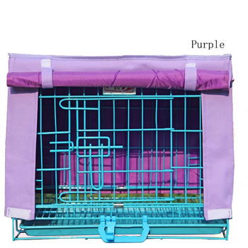 Durable Solid Waterproof Oxford Dog House Crate Cover Breathable Kennel Blanket For Wire Crate Dogs Cage 7 Color Available 1