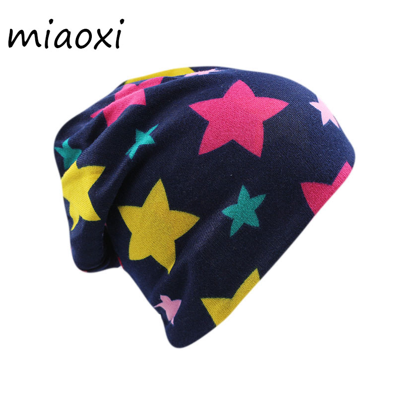 miaoxi New 2 Used Fashion Women Hat Scarf Star Autumn Warm Winter Cap For Girls Bonnet Polyester Casual Adult Hats Beanies Sale miaoxi women autumn hat two used caps knitted scarf adult unisex casual letter beanies warm autumn beauty skullies hat girl cap