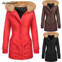 Hooded Fleece Vrouwen Winterjas 2017 Nieuwe Collectie Casual Warm Lange Mouwen Plus Size Dames Basic Jas jaqueta feminina