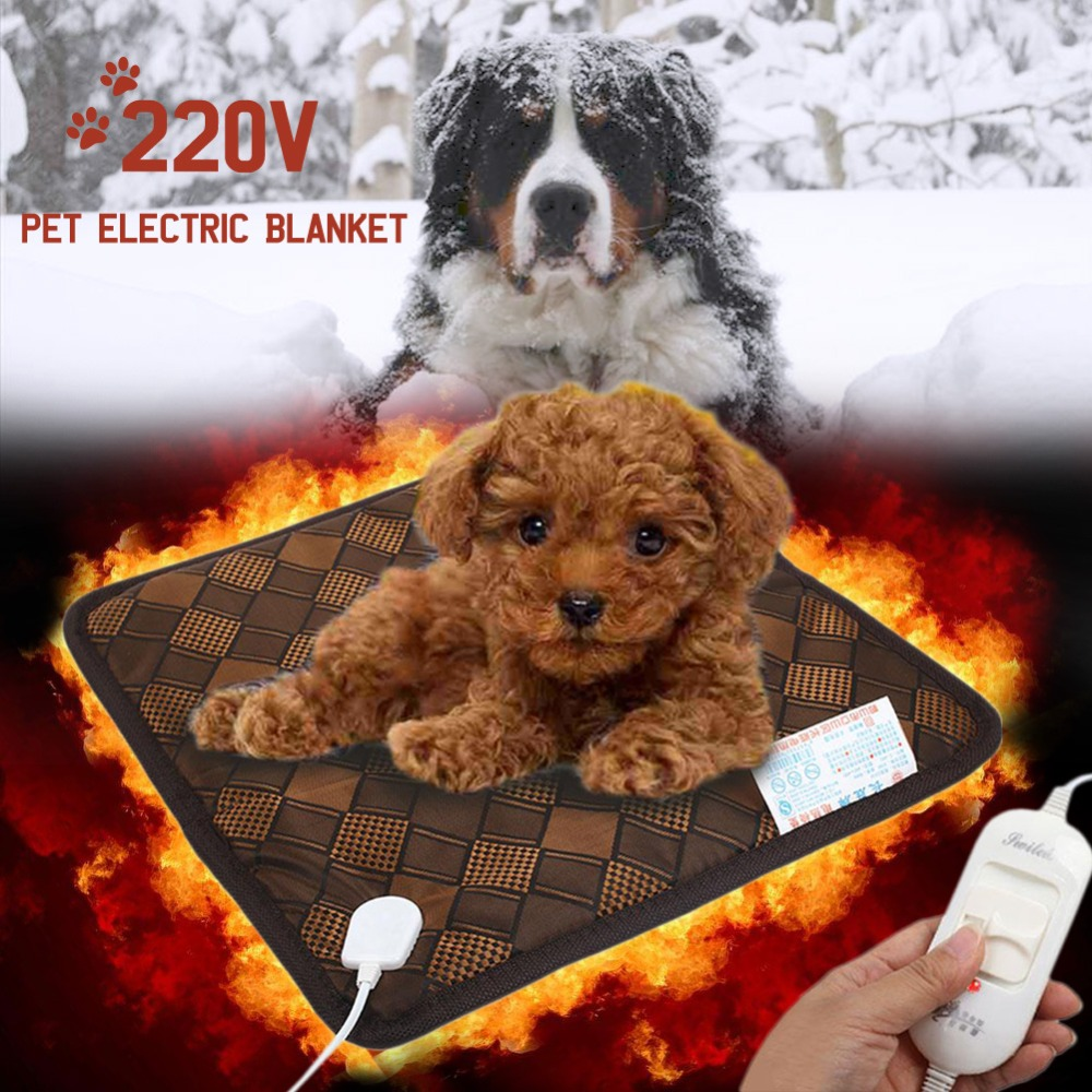 220v 45x45cm Universal Electric Heating Pad Pet Cat Dog Safe Mat Indoor Outdoor