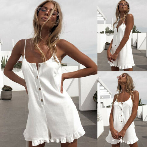 Women's Clubwear Holiday Summer Mini Jumpsuit Playsuit Romper Beach Shorts