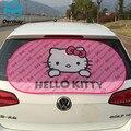 100x50 cm hello kitty posterior del coche parasol parasol cubierta visor protección de pantalla de malla de color rosa de dibujos animados accesorios del coche