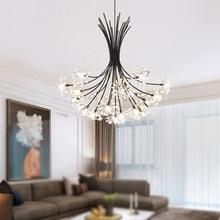 купить Modern Chandelier Lighting Restaurant Crystal hanging lamp Living Room Bedroom Simple Nordic Style Decor Light Fixture lustre дешево