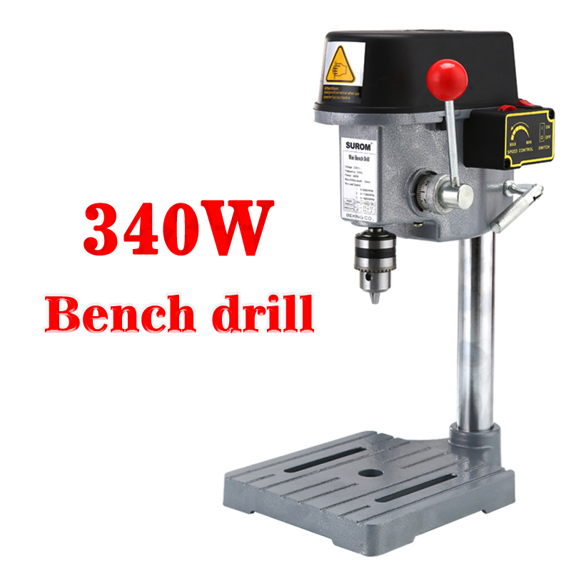 340 W 220 V 0.6mm-6.5mm Mini multi-function small electric drill Micro bench drill 1PC hot mini electric drilling machine variable speed micro drill press grinder 1pc bg 5168e 1pc bg6300 1pc 2 5 parallel jaw vice