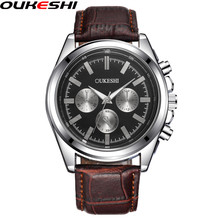 OUKESHI Brand Men Fashion Watchs Men Business Wristwatches Casual Quartz Watch Waterproof Clock Relogio Masculino