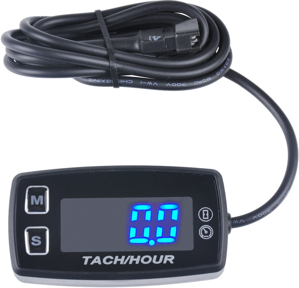 Thermometer Voltmeter Temperature RPM Meter LED Tach Hour Meter for gas engine marine dirt quad bike pit bike golf RL-HM035L digital engine hour meter inductive waterproof lcd hourmeter for motorcycle dirt quad bike marine atv snowmobile pit bike