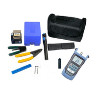 10 in 1 FTTH fiber optic tool kit with FC 6S Fiber Cleaver and optical power meter 1mW Visual Fault Locator Wire Stripper