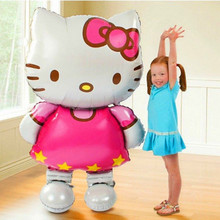 116*65cm Oversized Hello Kitty Cat foil balloons cartoon birthday decoration wedding party inflatable air balloons