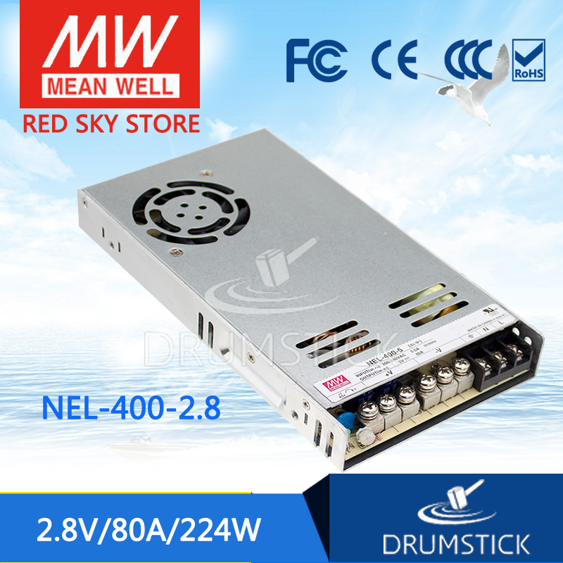 все цены на  100% Original MEAN WELL NEL-400-2.8 2.8V 80A meanwell NEL-400 2.8V 224W Single Output Switching Power Supply  онлайн