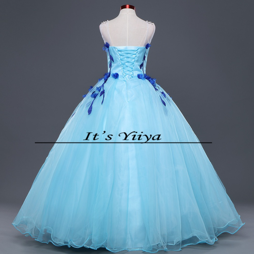 2017 Free Shipping Summer Wedding Dresses Sky Blue Bride Boat Gowns ...